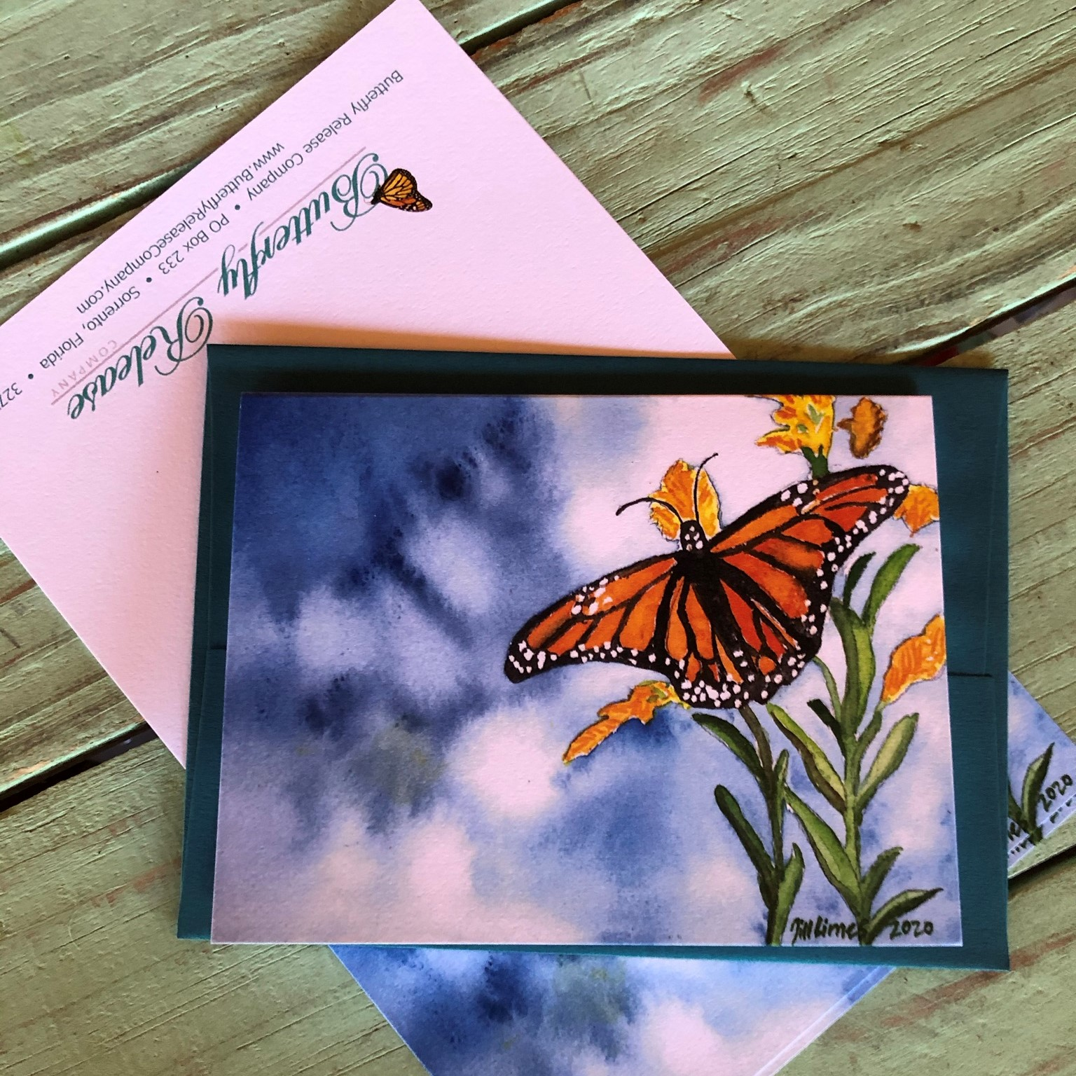 Monarch Nectaring  - Original Watercolor prints