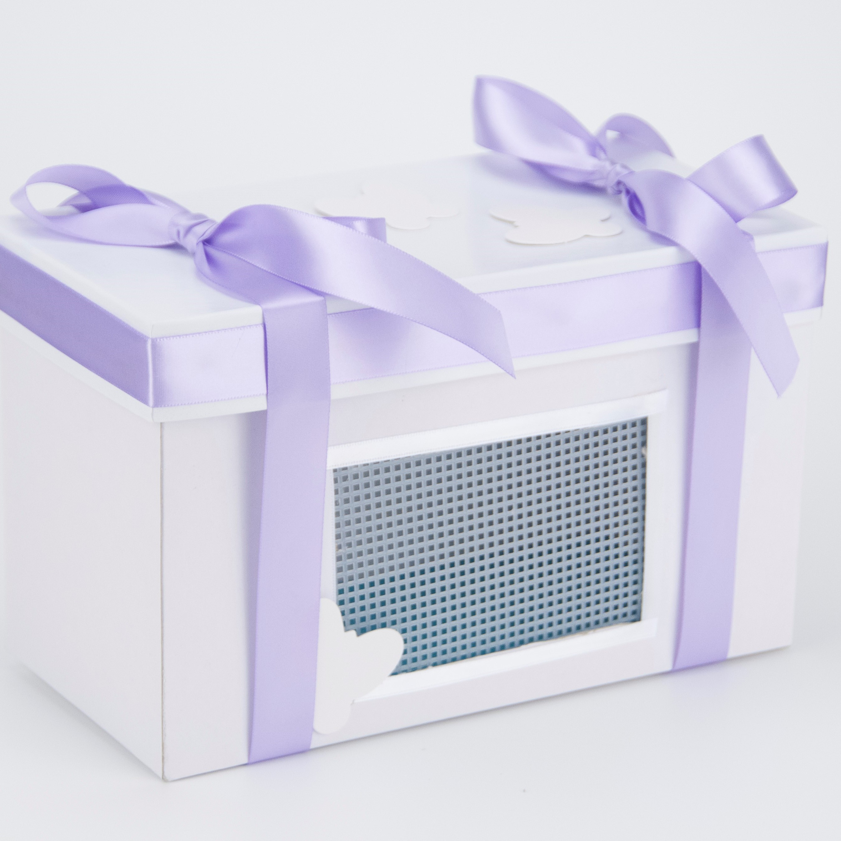 Decorator Box with ribbon only  (butterflies not included) Available as an option with all packages